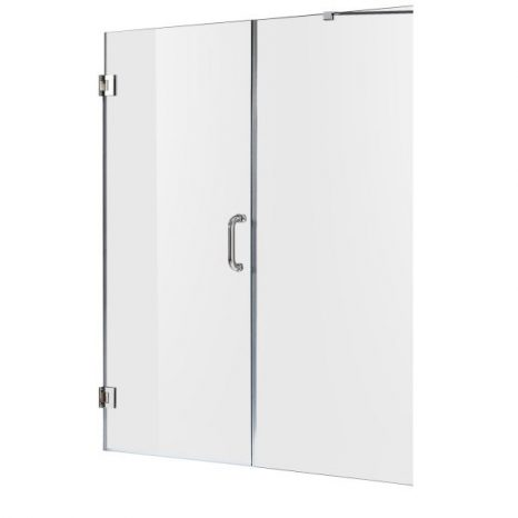 Castle Series 49 in. x 72 in. Semi-Frameless Shower Door with TSUNAMI GUARD in Polished Chrome