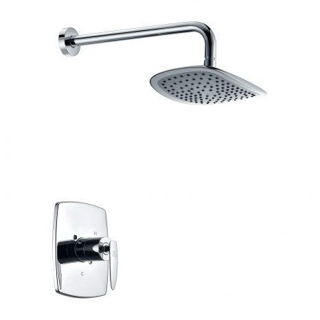 Mesto Series 1-Handle 2-Spray Tub and Shower Faucet in Polished Chrome