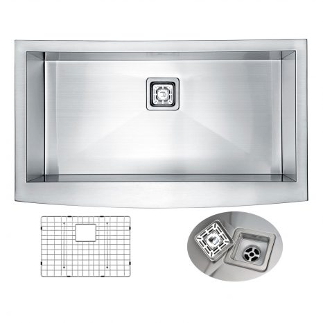 Vanguard Undermount Stainless Steel 23 in. 0-Hole Single Bowl Kitchen Sink in Brushed Satin