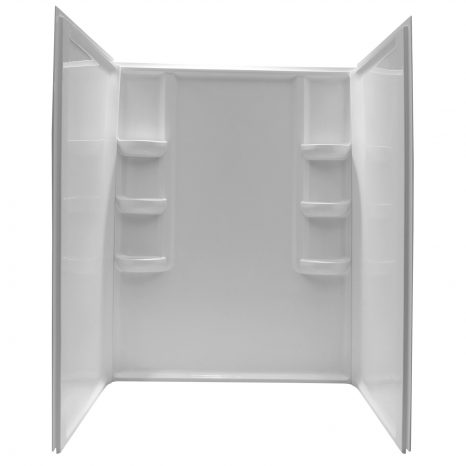 Tier 36 x 60  in. Center Drain Single Threshold Shower Base in White