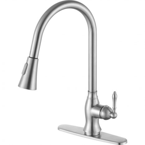 Orbital Single Handle Pull-Down Sprayer Kitchen Faucet in Polished Chrome