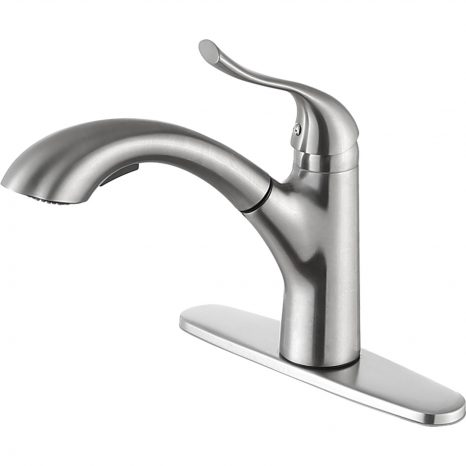Orbital Single Handle Pull-Down Sprayer Kitchen Faucet in Brushed Nickel