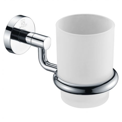 Caster Series 7 in. Toothbrush Holder in Brushed Nickel