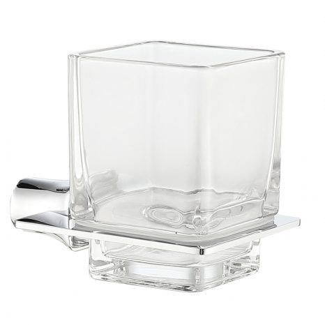 Caster Series 7 in. Toothbrush Holder in Polished Chrome