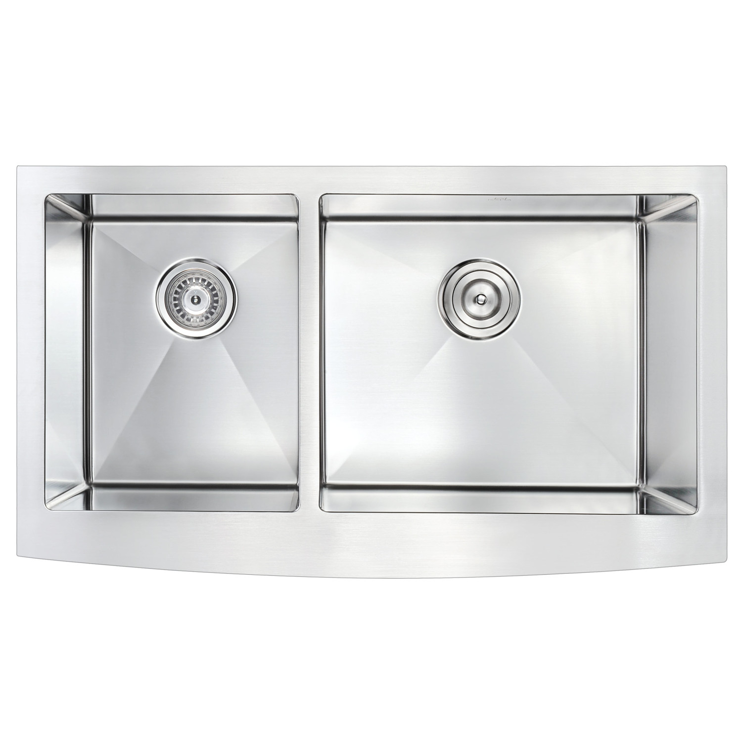 Elysian Series 36 In Farm House 40 60 Dual Basin Handmade Stainless Steel Kitchen Sink Anzzi