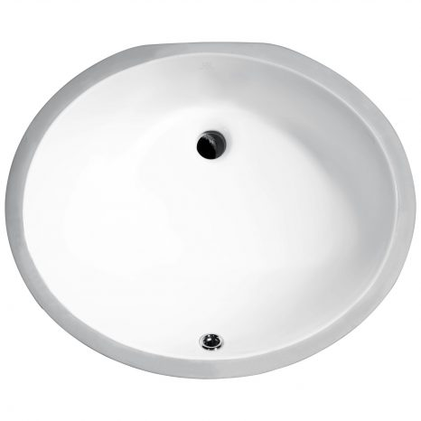 Rhodes Series 17 in. Ceramic Undermount Sink Basin in White