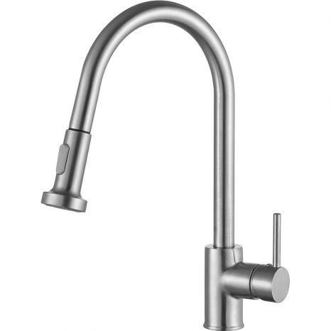 Accent Series Single-Handle Pull-Down Sprayer Kitchen Faucet in Polished Chrome