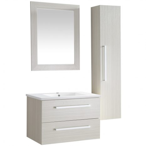 Conques 39 in. W x 20 in. H Bathroom Vanity Set in Rich White