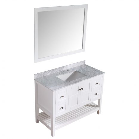 Chateau 60 in. W x 36 in. H Bathroom Vanity Set in Rich White