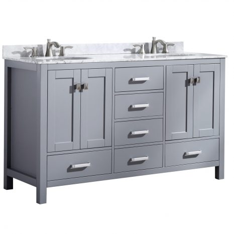 Chateau 48 in. W x 36 in. H Bathroom Bath Vanity Set in Rich White