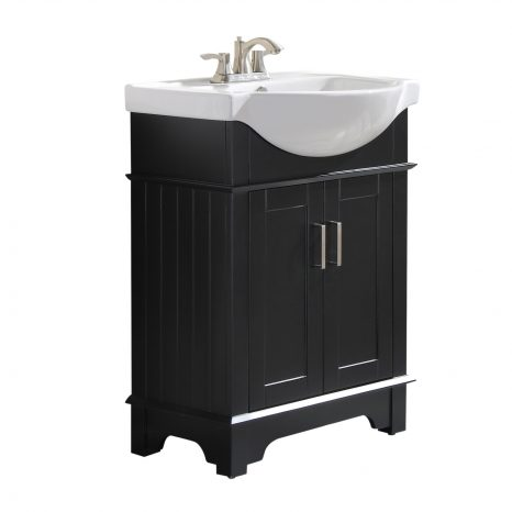 Mosset 24 in. W x 34 in. H Bathroom Vanity Set in Rich Gray