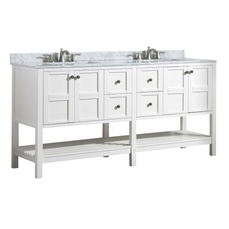 Montaigne 72 in. W x 35 in. H Bathroom Vanity Set in Rich Gray