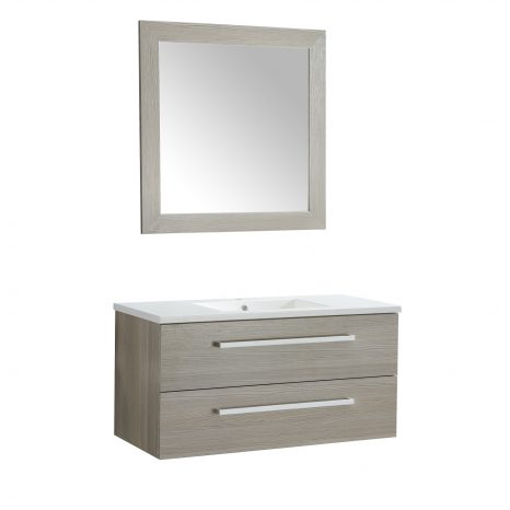 Conques 30 in. W x 20 in. H Bathroom Vanity Set in Rich Gray