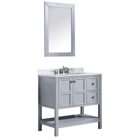 Conques 30 in. W x 20 in. H Bathroom Vanity Set in Rich Brown