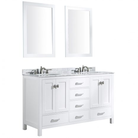 Montaigne 36 in. W x 35 in. H Bathroom Vanity Set in Rich White