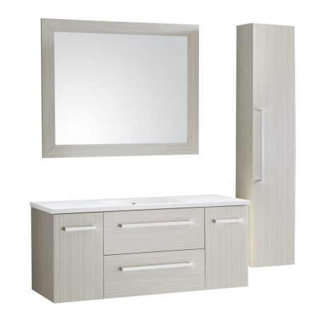 Mosset 24 in. W x 34 in. H Bathroom Vanity Set in Rich White