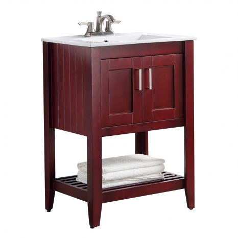 Montresor 24 in. W x 34 in. H Bathroom Vanity Set in Rich Walnut