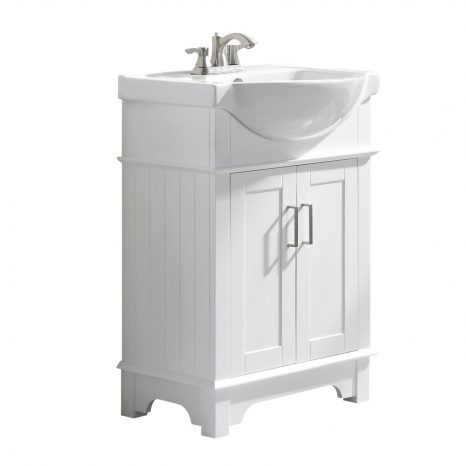 Montresor 24 in. W x 34 in. H Bathroom Vanity Set in Rich White