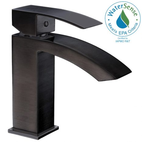 Enti Series Single Hole Single-Handle Vessel Bathroom Faucet in Oil Rubbed Bronze